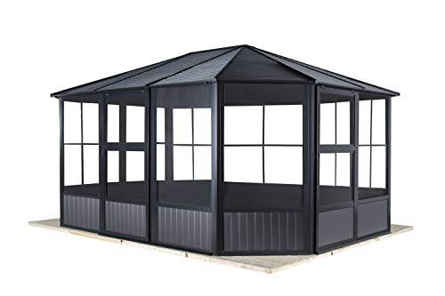 Sojag Aluminium Pavillon, Gartenlaube & Wintergarten Charleston // 384x384x281 cm (LxBxH) // Sommer und Winter Solarium