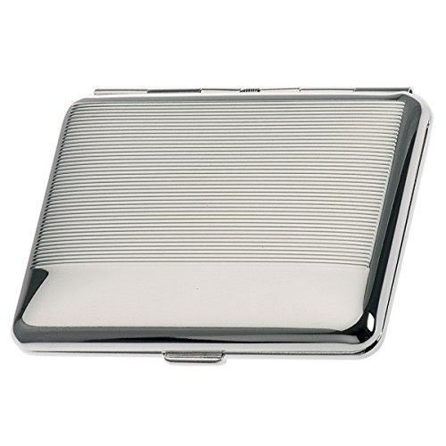 SILBERKANNE Zigarettenetui doppelseitig Hamburg 6,5x9,5 cm Silber Plated versilbert in Premium Verarbeitung