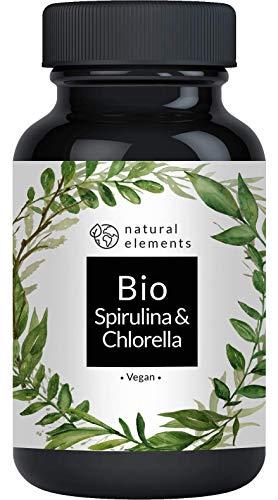 Bio Spirulina & Chlorella Presslinge - 500 Tabletten - Einführungspreis - Zertifiziert Bio, laborgeprüft, ohne Zusätze, hochdosiert, vegan und hergestellt in Deutschland