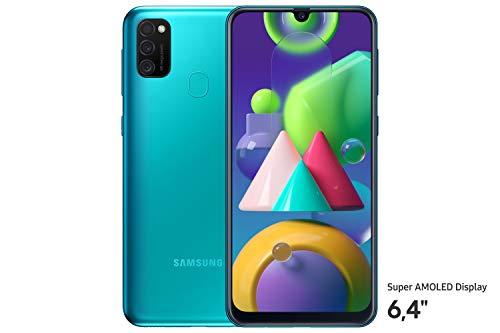 Samsung Galaxy M21 Smartphone (16,21 cm (6,4'') 64 GB interner Speicher, 4 GB RAM, Android, green) Deutsche Version