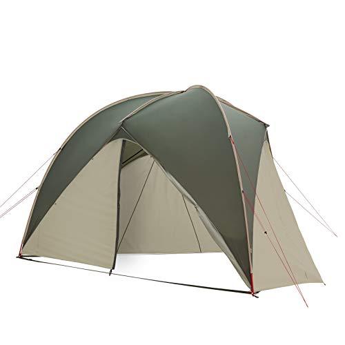 Qeedo Light Lime Trekking Pavillon Set-Angebot mit Seitenwänden, leicht (3,8 kg), kleines Packmaß (55 x 18 x 16 cm) - Rucksack-Packtasche, windstabil
