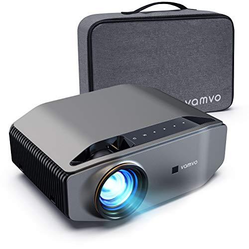 Beamer, Vamvo L6200 Full HD Native 1080P(1920*1080) 6000 Lumen Projektor mit Dolby Sound, Max 300'' Display 50000 Stunden Lampenlebensdauer, unterstützt HDMI USB VGA TV Stick Xbox Laptop Smartphone