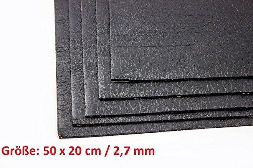 ADM ADM-Matte Anti-Dröhn-Matte Bitumenmatte, Anti/Droehn/Matte, 50 x 20 cm groß x 2,7 mm dick, selbstklebend Türdämmung Dämmung Dämmmaterial Dämmmatte Carhifi Autohifi Oldtimer (4)