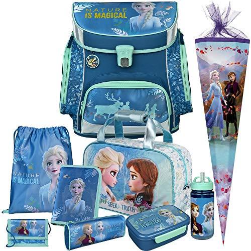 Frozen II - DIE EISKÖNIGIN - SCOOLI Undercover Campus FIT PRO Schulranzen-Set 10tlg. mit Sporttasche, SCHULTÜTE, BROTDOSE und TRINKFLASCHE