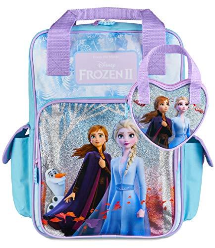 Disney® Offizieller Die Eiskönigin 2 Rucksack für Mädchen mit Elsa und Anna & Passende Mädchen-Handtasche, Schul Rucksäcke & Taschen für Mädchen   Eiskönigin 2 Großer Kinder Rucksack