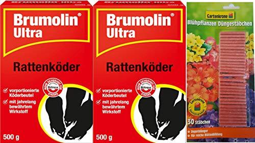 Brumolin 2 X 500g Ultra Rattenköder