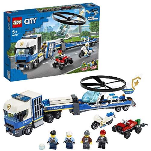LEGO 60244 - Polizeihubschrauber-Transport, City, Bauset