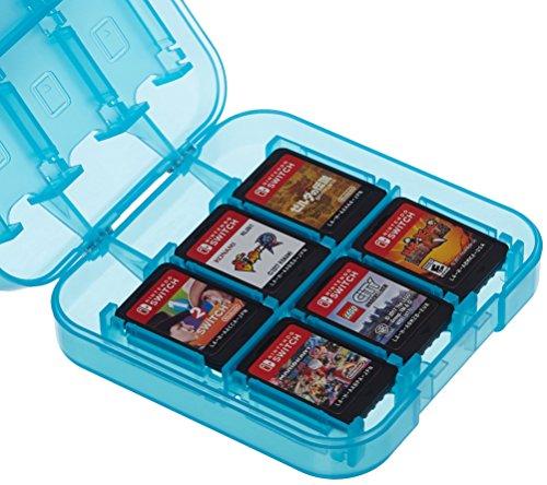 Amazon Basics - Aufbewahrungsbox für Spiele der Nintendo Switch - Blau