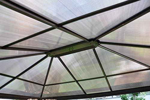 Leco Set Polycarbonat-Stegplatten für Profi-Pavillon, grau/braun, 300 x 365 x 1 cm, 13918888