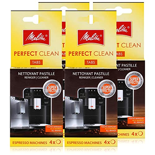 Melitta Perfect Clean Espresso Machines ReinigungsTabs 4x1,8g (4er Pack)