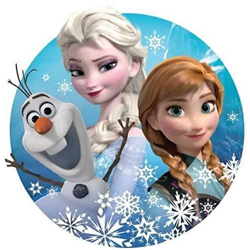 Anna, Elsa, Olaf Runde Tortenaufleger
