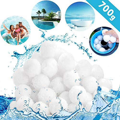 tillvex® Pool Filterbälle 700g   Filter für Sandfilteranlage   Ersetzen 25kg Filtersand   Extra langlebige Filter Balls für glasklares Wasser   Umweltfreundlicher Ersatz