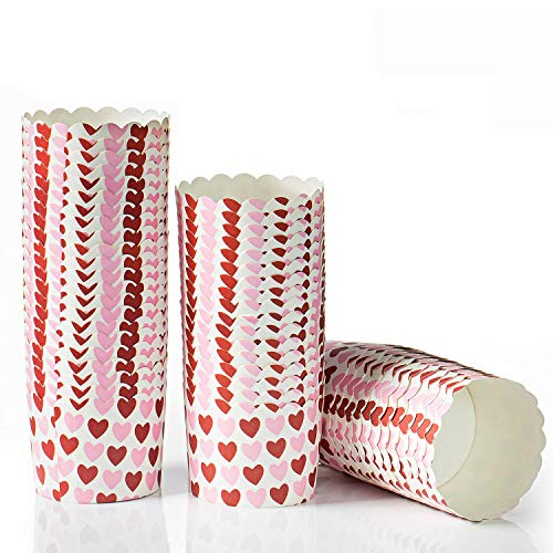 Comius Sharp 50 Stück Cupcake Wrapper Papier Muffinförmchen aus Papier Fällen Liners Muffin Backförmchen für Dessert Hochzeit Geburtstag Party (Mittel)
