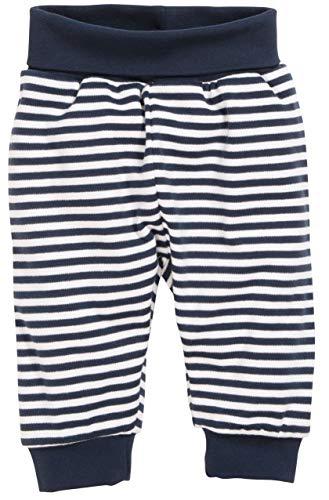 Schnizler Unisex Baby Jogginghose Babyhose Maritim mit Umschlagbund, Blau (Marine/Weiß 171), 86