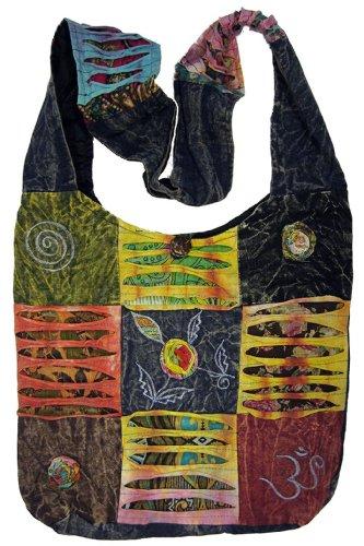 Original Collections Bohemian Handtasche/Umhängetasche, gesteppt, gerissener Look