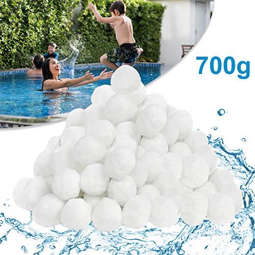 Filter Balls 700g ersetzen 25 kg Filtersand, Filterbälle für Pool, Schwimmbad, Filterpumpe, Aquarium Sandfilter