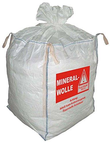 (6,93EUR/Stück) 10 Big Bag MiWo Warndruck Mineralwolle 90x90x110cm SWL 150Kg
