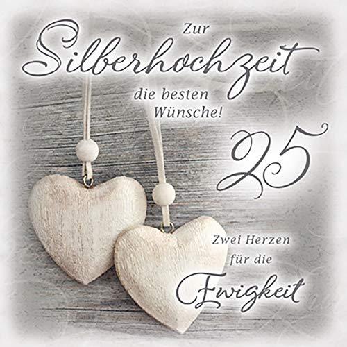 Perleberg zur Silberhochzeit Romantica - Herzen - 15 x 15 cm, 7750057-2