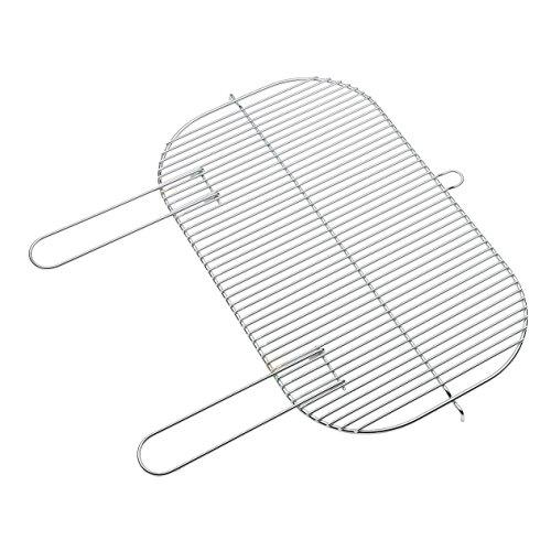 barbecook Grillrost ovaler mit Haltegriffen 56-x-34 cm für Holzkohlegrill Loewy und Arena verchromt leicht zu reinigen