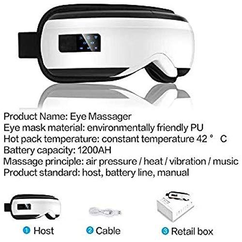 Augenmassagegerät Elektrische Vibration Bluetooth Augenmassagegerät Augenpflegegerät Faltenermüdung Linderung der Vibrationsmassage Heiße Kompressions-Therapiebrille