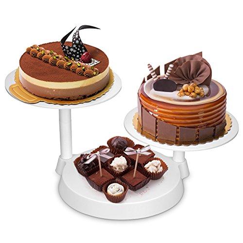 Uten Tortenständer Etagere Kuchenständer, 3 stöckig Tortenplatte Hochzeitstorte Deko Gestell für Geburtstag, Hochzeit und Party