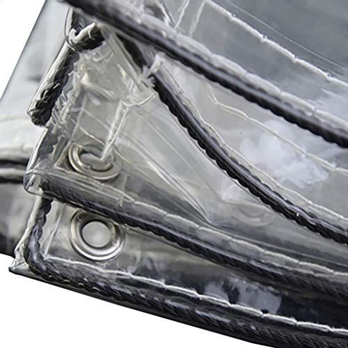 ZSMPY Persenning, Heavy Duty Tarp Persenning Verstärkte Ösen Thick PVC-Plane Wasserdichte Transparente Plane Blatt Premium Quality Abdeckung Tarp For Outdoor-Camping taupaulin Blätter