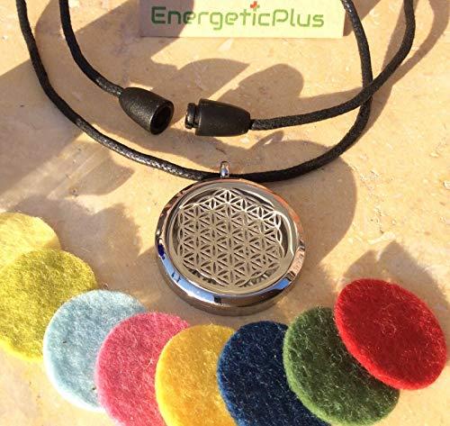EnergeticPlus,Aroma Medaillon für die Aroma Therapie, Schutz Medaillon,Glücksbringer.