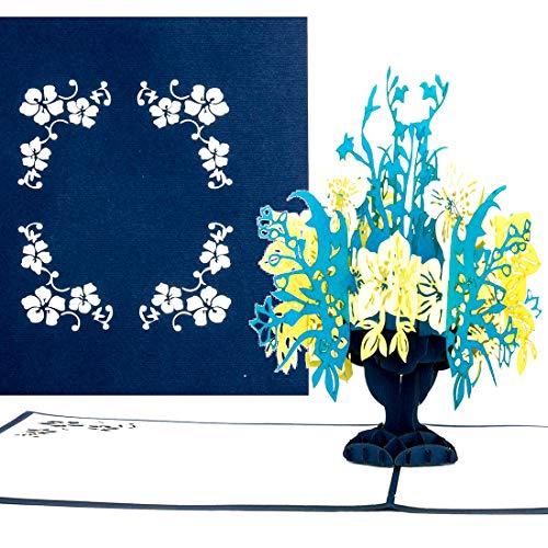 Pop-Up Karte Blumenstrauß aus Papier