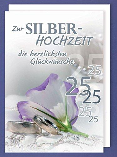 Riesen Grußkarte Silberhochzeit 25 AvanStyle Maxi Glückwünsche A4