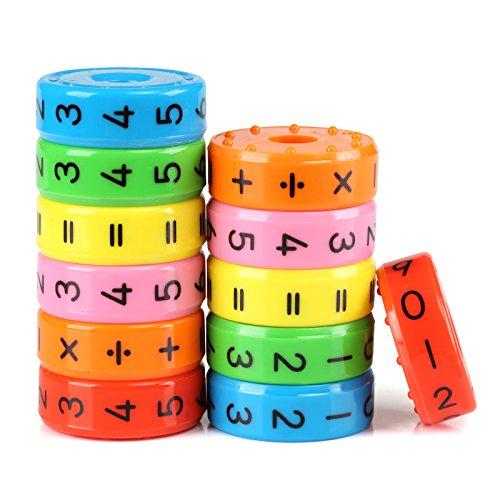 Kesote 2 Stück Lernspielzeug Mathematik Rechenrolle Einschulung Mathe Lernen Rechnen Spielzeug Schulanfang Schulkind Schuleinführung Geschenk Weihnachten