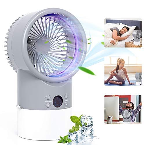 Mobile Klimaanlage, TedGem Verdunstungskühler, Air Cooler Mini, Mini Klimaanlage Luftkühler, 3 in 1 Ventilator/Luftbefeuchter/Conditioner, 3 Geschwindigkeiten, Leise, für Zuhause und Büro