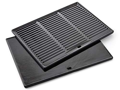barbecook Grillplatte Grillzubehör Gusseisen emaillierte passend zu Grill Quisson und Siesta, schwarz