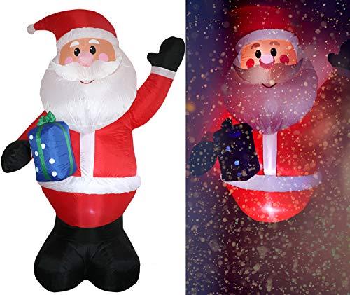 Tronje aufblasbarer XXL Weihnachtsmann 300cm LED-Licht Dauergebläse Innen- und Außenbereich X-Mas Santa Claus Nikolaus