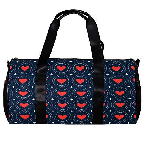 43,2 cm fassende Sporttasche, Blume Hochzeitskarte Valentinstag Gym Schultertasche für Damen und Herren Leichte Duffle Bag