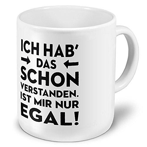 printplanet XXL Riesen-Tasse mit Spruch: I hab das Schon verstanden. Ist Mir nur egal! - Kaffeebecher, Sprüchebecher Becher, Mug