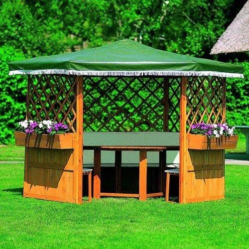 Promadino Pavillon Marburg mit Möbeln