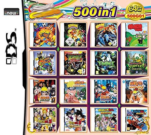500 in 1 Spiele DS Spiel Super Combo Cartridge NDS Game Card für DS NDS NDSL NDSi 3DS 2DS XL Neu