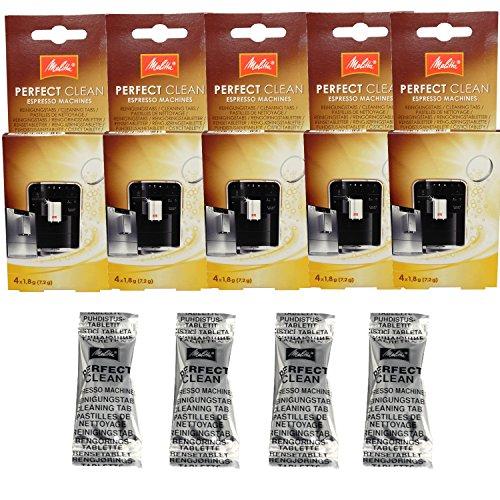 Melitta 5er Pack Perfect Clean Kaffeevollautomaten Inhalt 4 Tabs à 1,8g - 1500791 -