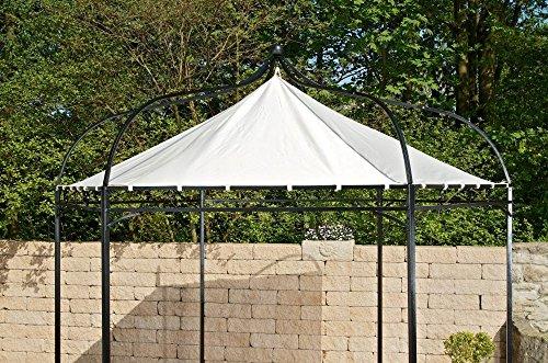 CLP Ersatzdach für 6 eckigen Pavillon | Textil-Dach Pavillon Manley + Dudley | Wetterschutz für Garten-Pavillon erhältlich Creme