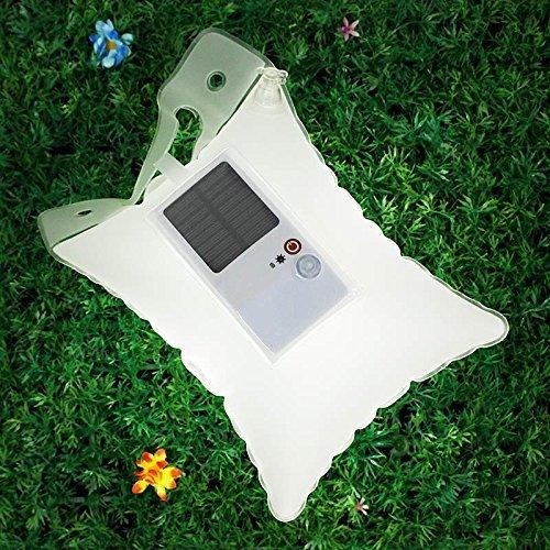 Camping Laterne Aufblasbare Solarlaterne LED Solarbetriebene Zeltlampe Hängelampe( Wasserdicht + Umweltschutzmaterial) Outdoor Garten Wandern Reisen