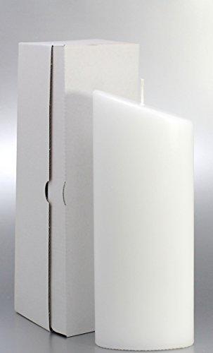 Ovalkerze weiss 23 x 9 cm, mit Karton zur Aufbewahrung - 4805 - Kerzenrohling 230x90 mm zum Basteln und Verzieren