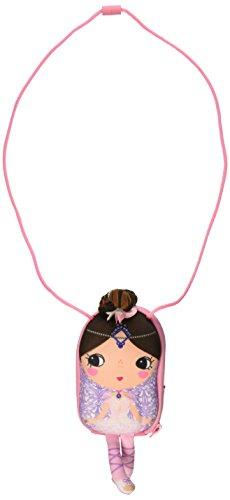 okiedog TINY TREASURES 87003 Mädchenhandtasche im Puppenlook BALLERINA mit Haaren und Schlenkerbeinen