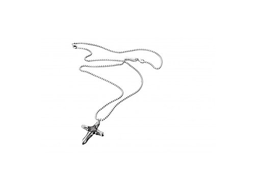 POLICE PJ25561PSE-03 Herren Collier Kreuz SANCTURY Edelstahl Silber schwarz 70 cm