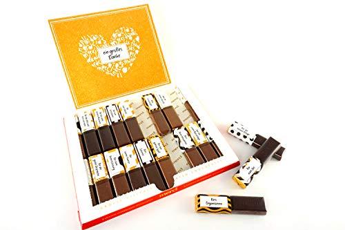 SURPRISA Aufkleber Set für Merci Schokolade - Dankeschön an mehrere Personen - kreative Geschenke für Freundin, Freund, Mutter, Vater - kleine aber persönliche Geschenkideen - kleines Geschenk