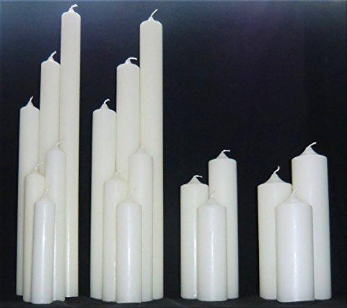 Kerzenrohling für Taufe, Geburtstag, Hochzeit, Kommunion, RAL Kerze aus Ceresin zum Basteln und Verzieren (300 x 70 mm, Elfenbein)