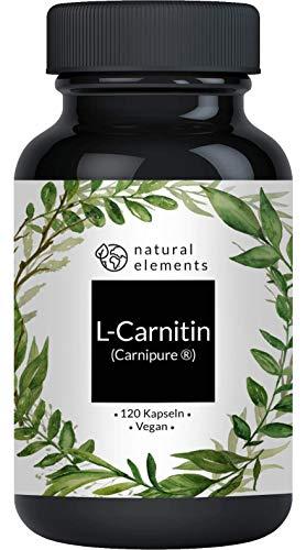 L-Carnitin 3000 - Premium: Carnipure® von Lonza - 120 Kapseln - Laborgeprüft, hochdosiert, vegan, hergestellt in Deutschland