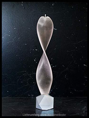 Engelskerze schwarz-weiß handgemacht. Moderne Dekoration. Yin Yang Kerze auch zur Meditation. Das besondere Geschenk für Ihre Lieben.