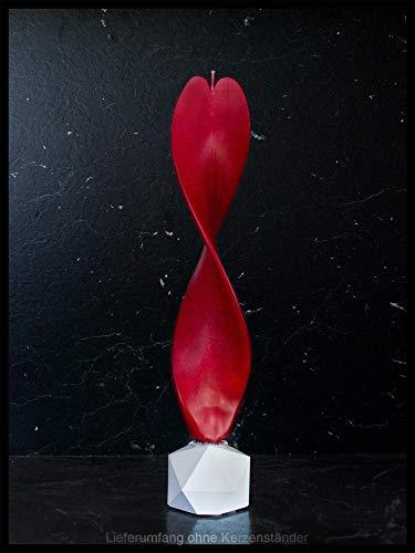Engelskerze rot handgemacht. Weihnachtsgeschenk oder als Weihnachtsdeko. Werden Sie von dieser edlen Dekoration verzaubert.