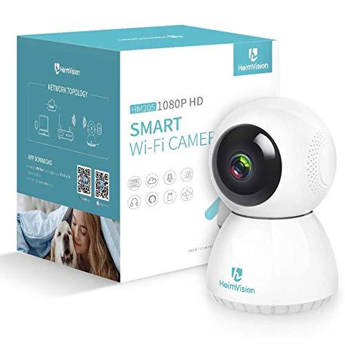 HeimVision Überwachungskamera WLAN Kamera, WLAN IP Kamera 1080P, Haustier Kamera mit App Kontrolle unterstützt Fernalarm, Nachtsicht, 2 Wege Audio, Bewegungserkennung