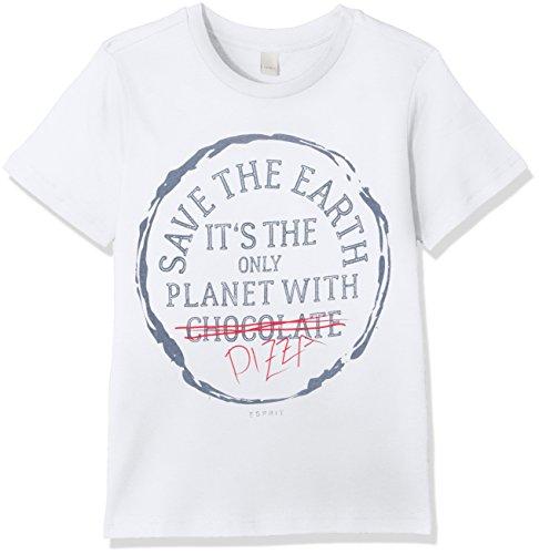 ESPRIT KIDS Jungen RL1074402 T-Shirt, Weiß (White 010), 92 (Herstellergröße: 92/98)